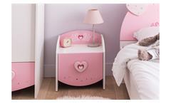 Nachttisch Anastasia Nachtkommode Nachtkonsole Kommode weiß MDF rosa lackiert