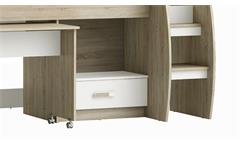 Hochbett Switch Kinderbett Bett Kombibett Sonoma Eiche sägerau weiß 90x200 cm