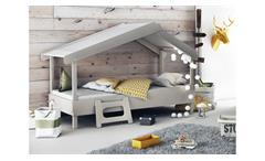 Kinderbett Tree Juniorbett Bett Kinderzimmer MDF grau lackiert inkl. Rost 90x200