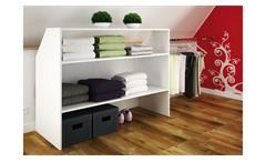 Dachschrägen Einrichtung Dachboden Schrank Sous Comble Kleiderschrank offen weiß