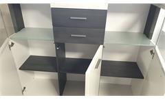 Highboard 3-türig weiß lackiert Absetzung Esche grau  Wohnzimmerschrank Studio 2