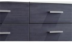 Kommode Highboard 2-türig weiß Absetzung Esche grau  Highboard Studio 2