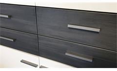 Kommode Highboard 2-türig weiß Absetzung Esche grau  Highboard Studio 2