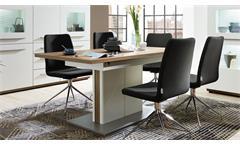 Esstisch ausziehbar Light Line Eiche Altholz weiß matt lackiert Esszimmertisch