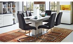 Esstisch ausziehbar Light Line Tisch weiß matt lackiert Esszimmertisch 160x90