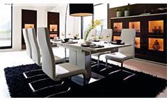 Esstisch Light Line Esszimmertisch Tisch weiß matt Lack ausziehbar 160-205x90 cm