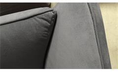 Bigsofa Maroni Sofa 3-Sitzer Polstermöbel Wohnzimmer in grau mit Armlehnfunktion