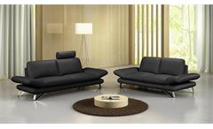 Sofa 3-Sitzer Taifuna Einzelsofa Polstermöbel 3er-Sofa Wohnzimmer Couch schwarz