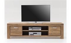 TV-Kommode 4 Kira TV-Board Lowboard Unterschrank in Wildeiche massiv geölt