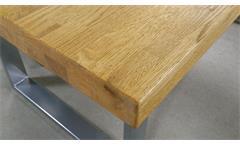 Esstisch 2559/K Tisch Esszimmertisch in Eiche natur massiv geölt in 180x100 cm