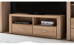 TV Board Tabea Lowboard Unterschrank Fernsehschrank Wildeiche Bianco teilmassiv