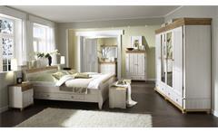 Schlafzimmer Set HELSINKI MALTA Kiefer massiv Weiß und Antik