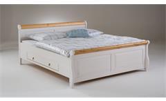Schlafzimmer Set Helsinki Malta Komplettzimmer Kiefer massiv weiß hellbraun 4tlg