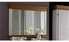 Spiegel OSLO in Kiefer massiv weiß und antik 101,3x88 cm für Schlafzimmer