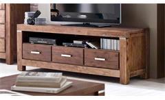 TV Board Victoria Lowboard Fernsehschrank Unterschrank in Akazie massiv braun