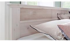 Schlafzimmer Göteborg 4-tlg Set Kiefer massiv weiß Milan Schweber Bett 180x200