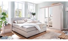 Schlafzimmer GÖTEBORG Set Kiefer massiv mit Boxspringbett Romantica