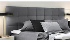 Boxspringbett Couture Hotelbett Stoff silber mit Kopfteil Topper 180x200 Femira