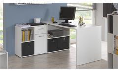 Schreibtisch Lexx Winkelkombination in weiß variabel montierbar