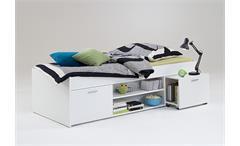 Bett CARLO Einzelbett Kinderzimmermöbel 90x200 in weiß