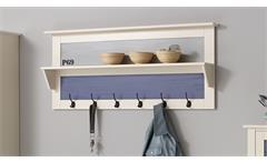 Garderobenpaneel Sylt Garderobenhaken Wandpaneel MDF weiß bunt lackiert Landhaus