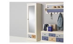 Garderobenschrank Sylt Dielenschrank Schrank in MDF weiß bunt lackiert Landhaus
