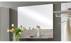 Garderobenspiegel Shanghai Up Wandspiegel Spiegel mit Ablage Sandeiche Garderobe