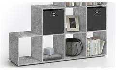 Raumteiler MEGA 2 Bücherregal Regal in Beton Dekor 10 Fächer