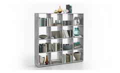 Raumteiler MEGA 6 Bücherregal Regal in Beton Optik 16 Fächer
