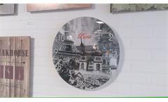Wanduhr Paris dekorative Motiv Uhr Glas bedruckt