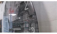 Wanduhr Paris dekorative Uhr Glas bedruckt Motiv Paris Eiffelturm Louvre