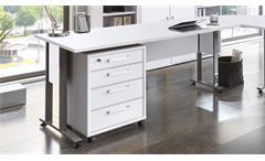 Schreibtisch Calvia 2 Computertisch weiß mit Metallkufen Arbeitszimmer Büro