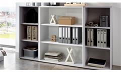 Regal Calvia 7 Bücherregal Aktenregal in weiß Arbeitszimmer Büro
