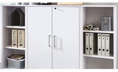 Regalwand Calvia Bücherregal Büroregal Aktenregal in weiß Arbeitszimmer Büro
