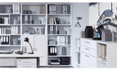 Regal Calvia 8 Aktenregal Bücherregal in weiß Arbeitszimmer Büro 89 cm