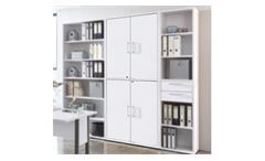 Schrank CALVIA Büroschrank in weiß abschließbar