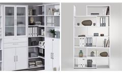 Regal Calvia 9 Eckregal Winkelregal Raumteiler in weiß Arbeitszimmer Büro