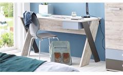 Schreibtisch Nona Computertisch Jugendmöbel Sandeiche mehrfarbig Jugendzimmer