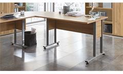 Arbeitszimmer Calvia Büro Komplett-Set Regal Schrank Schreibtisch in Alteiche