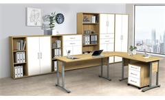 Rollcontainer Schubladenschrank Bürocontainer Dallas Artisan Eiche weiß Büro
