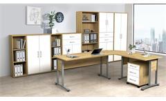 Aktenschrank Standschrank Büroschrank Dallas Artisan Eiche 4-trg Arbeitszimmer