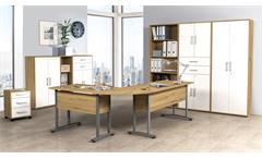 Arbeitszimmer Komplettset Büromöbel Dallas Büroeinrichtung Artisan Eiche 9-tlg