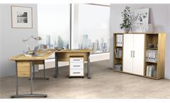 Arbeitszimmer Komplettset Büroeinrichtung Dallas Büromöbel Artisan Eiche 5-tlg