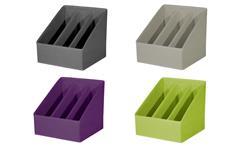 Faltbox Stehsammler Zeitschriftenablage Flori 6 Organizer 3 Fächer beige