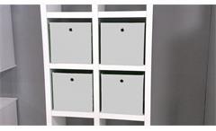 Faltbox 4er Set Flori 1 Korb Regal Aufbewahrungsbox in weiß