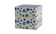 Faltbox FLORI 1  Korb Aufbewahrungsbox Regal Blumen blau