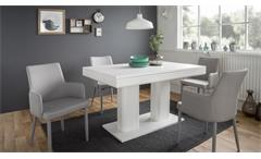 Esstisch Heidelberg Tisch weiß ausziehbar 140-220x90 cm