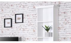 Regal Landwood Bücherregal Standregal in weiß mit 5 Fächern 50 cm Landhausstil