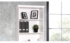 Regal Landwood Bücherregal Standregal in weiß mit 5 Fächern 80 cm Landhausstil