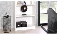 Regal Landwood Bücherregal Standregal in weiß mit 5 Fächern 80 cm Landhausstil